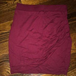 Women's s rutched mini skirt